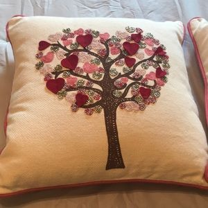 Red and pink pillow. Good condition
